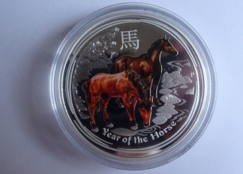 Australian Lunar Series II 2014 Year of the Horse Silver Proof Coloured Editions