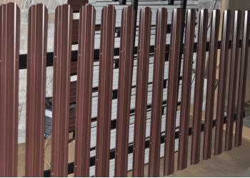 Штакетник металлический на забор длина 1.5метра