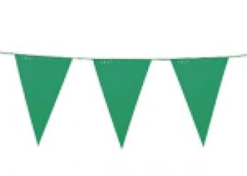 флажная лента из зеленых флажков