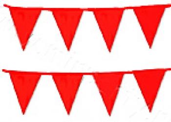 флажная лента из красных флажков