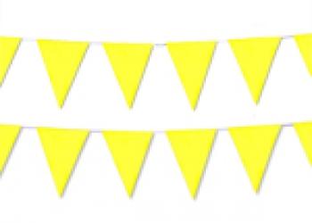 флажная лента из желтых флажков
