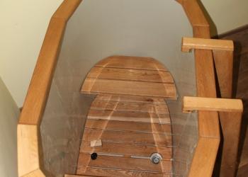 Купель для бани овальная с пластиковой вставкой