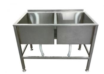 Продам ванны моечные 1-2-3-х секционные, стеллажи - Б.У.