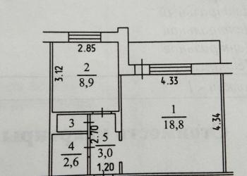 1-к квартира, 34 м2, 9/9 эт.