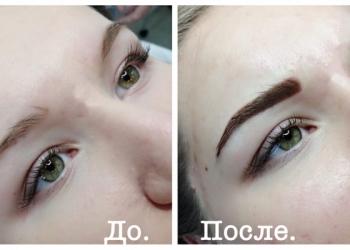 Перманентный макияж ( бархатное напыление)