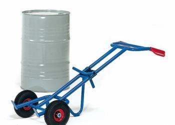 Ручная стальная тележка для перевозки бочек грузоподъемностью до 300 кг