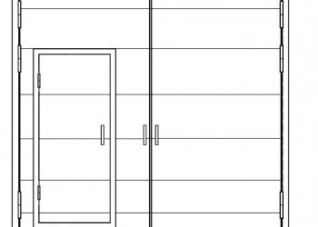 Ворота стальные наружные ВР 36х36-ухл1, серия 1.435.9-17