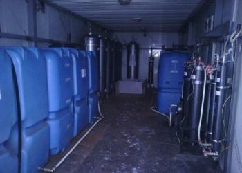 Система водоочистки в блок-боксе 3*9