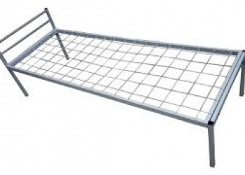 Одноярусные кровати металлические от 850 р. для хостела и общежитий, кровати опт