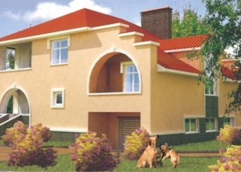 Дом из кирпича площадью 230 кв.м.