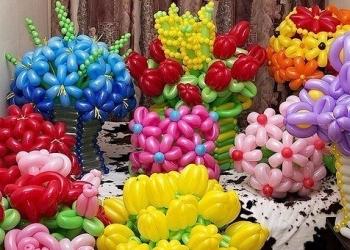 Букеты и фигуры из шаров. Букеты из конфет