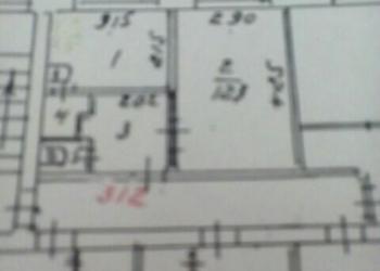 1-к квартира, 24 м2, 3/5 эт. в центре г. Тюмени.