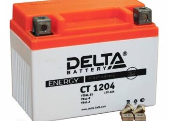 Delta CT 1204 аккумуляторная батарея (мотоакб 12В 4Ач)