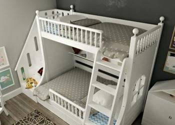 Двухярусная кровать из массива бука