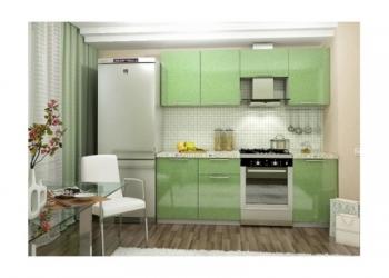 Кухонный гарнитур зеленый Олива 2,1 м