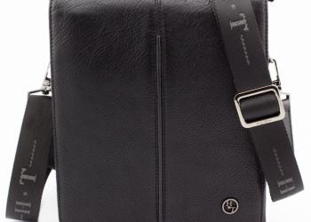 Кожаная сумка мужская через плечо H.T