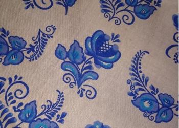 Продам полульняные ткани простынные, полотенечные  ,  набивные,  скатертные