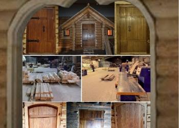 Двери по индивидуальным проектам из хвойных и лиственных пород дерева