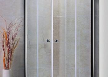 Душевой уголок PRATICO-A-2-80-P-Cr 800x800x1850 текстурное стекло, Punto