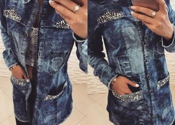 Рубашка женская джинс/коттон