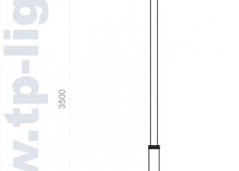 Опора освещения декоративная ОД 114/76/300/3500-Т002