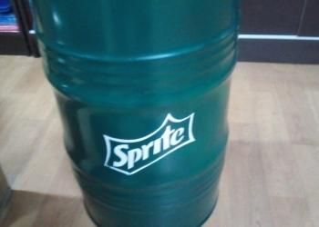 """Дизайнерская бочка железная 60 л. Напиток """"Sprite"""""""
