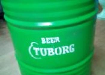 """Бочка стальная 200л дизайнерская """"Tuborg"""""""