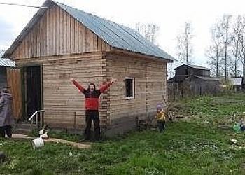 Продам зем.участок в Абагуре Лесном  с постройкой