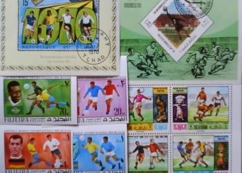 Футбол Набор марок и блоков.