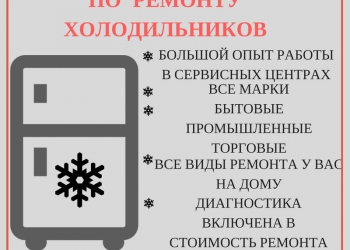 РЕМОНТ ХОЛОДИЛЬНИКОВ В ЭЛЕКТРОСТАЛИ И ОБЛАСТИ