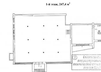 Сдаю ПСН площадью 247,4 м2 , возможно деление на 36,4 м2 и 211 м2.