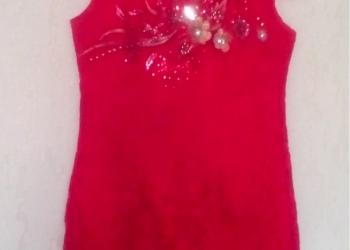 Красное вечернее платье новое
