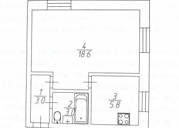 1-к квартира, 31 м2, 5/5 эт.