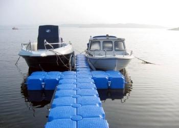 Сухой док из понтонов для катеров, лодок, гидроциклов