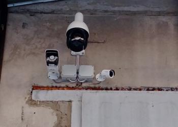 Установка видеонаблюдения, охранно-пожарной сигнализации