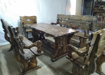 Комплект стол 2 кресла 2 лавочки