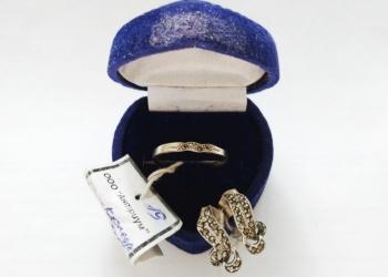 Серебряное кольцо + кольцо, новые