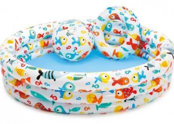 Детский надувной бассейн 132х28см