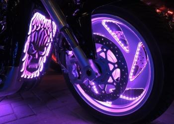 Подсветка дисков мотоцикла
