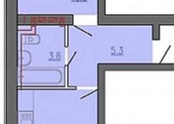 1-к квартира на 3 этаже 4-этажного кирпичного дома. Хозяин