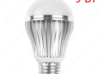 Светодиодная лампочка 9 Вт с датчиком движения (00111)