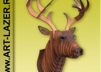 Голова из фанеры на стену, подарки, интерьер