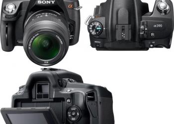Продам новенькую зеркалку Sony a390