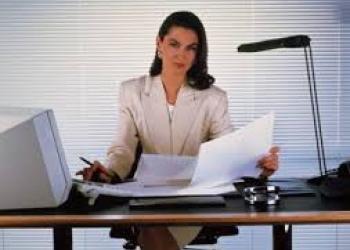 Секретарь работы офиса