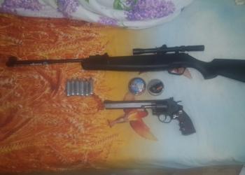 продам винтовку с газобалонным пистолетом