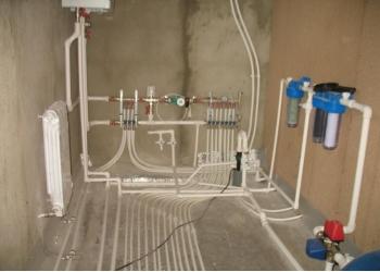 Монтаж системы отопления, водоснабжения и канализа