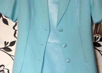 костюм голубой размер 42: платье и кардиган