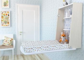 Настенный компактный многофункциональный пеленальный столик Baby Desk