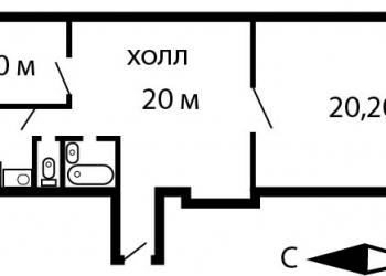 2-к квартира, 65,6 м2, 3/4 эт.