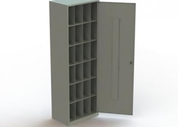 Металлический шкаф для противогазов ХПГ-24-600 с дверью